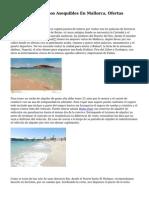 Alquiler De Turismos Asequibles En Mallorca, Ofertas Verano 2015