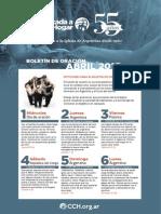 Boletín Oración CCH Abril 2015