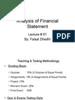 Analysis of Financial Statement Lec#0 01