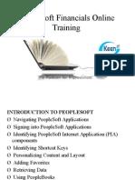 Peoplesoft Financials Online Training
