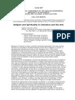 CFP Bucharest June 2015 - Religion Spirituality Literature Arts