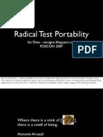 Radical Test Portability