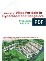 Luxury Villas for Sale in Hyderabad and Bangalore