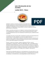 Documento Final y Declaración de Los Movimientos Sociales