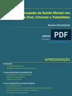 A Repercussão da Saúde Mental nos Campos Cível, Criminal e Trabalhista