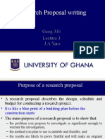 Lecture 3 Proposal Writing