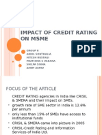 Impact of Credit Rating on Msme