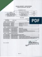 Krishna University Llb and Ballb April 2015 Exam Time Table 01042015