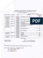 Acharya Nagarjuna University Bed Supply April 2015 Exam Time Table 31032015