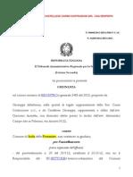 Altadonna Giuseppe e Castellese Carini Costruzioni Srl Cga Respinto Ricorso Diniego 2013