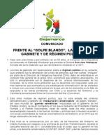 Comunicado Grc -Censura Gabinete Jara 31-3-2015
