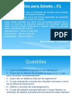 Questões Para Estudo – P1