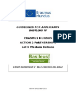 Guidelines for Applicants Basileus IV