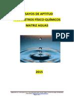 Ensayo de Aptitud Aguas 2015 Asequality