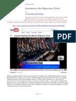 Jon Christian Ryter - Obama Denounces the Supreme Court