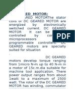 DC GEARED  MOTOR.docx