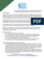 Communiqué de Presse Festival 150 Ans Sainte Marguerite Du Vésinet 27 03 2015