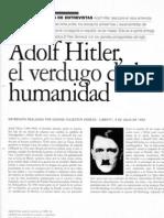 Entrevista a Hitler