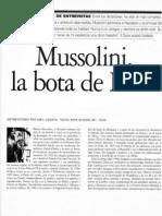 Entrevista a Mussolini