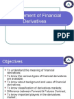 Management of Financial Derivatives