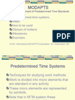 MODAPTS PRIMER SLIDESHOW - Modular Arrangement of Predetermined Time Standards