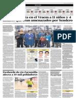 30-3-15 El Comercio - Desborde de Río Zarumilla Afecta a 10 Mil Pobladores