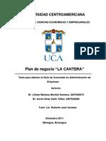 Plan de Negocio La Cantera