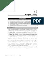 Chapter 12 Marginal Costing