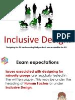 core topic 3 - inclusive design