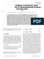 Modified Law of Mixture to Describe the Tensile Deformation Behavior of Thermomechanically Processed Dual-Phase Steel