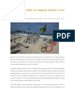 Opinión Rio 2016 - Jordi Borja