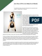 Los Ingredientes Clave Para el PG en la Moda En el Dise?o de Cursos