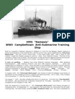 HMS Nemesis - WWII - Campbeltown - Anti-Submarine Training Ship