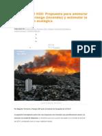 VALPARAISO H30 Propuesta Para Aminorar Factores de Riesgo (Incendio) y Estimular La Restauración Ecológica