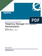 NN43050-601 03.13 Administration TM 4 0 System