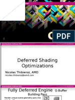 Deferred Shading Optimizations
