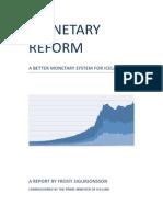 Iceland Monetary Reform