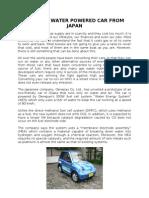 Genepax - Water Powered Car