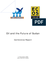 Sudan Oil Conference Report