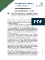 Orden IET-1045-2014 - Parámetros Retributivos