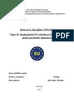Referat Reglementari UE Privind Ambalajele Prod Alimentare