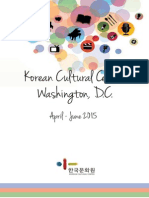 Korean Cultural Center DC Programs - April-June 2015