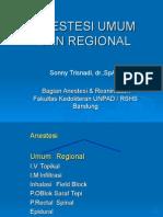 Anestesi Umum Dan Regional