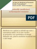 Inceputurile medicinei romine