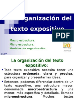 La Organizaci n Del Texto Expositivo