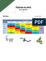 Mercredis PM 2014-2015 Planification Des Activités Du Bloc 3 Préscolaire