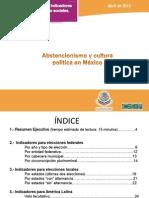 Abstencionismo y Cultura Politica en Mexico