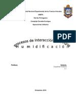 Humidificacion en plantas y carta psicrometica