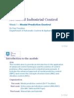 Model Predictive control Notes