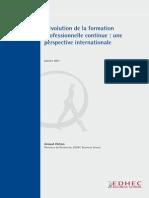EDHEC Position Paper Evolution de La Formation Professionnelle